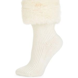 NEW Ugg faux fur rain boot socks short